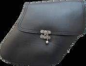 04-UP Harley-Davidson Dyna Wide Glide FXR Right Side Solo Saddle Bag Black Quick Release