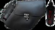 04-UP Harley-Davidson Dyna Wide Glide FXR Right Side Solo Saddle Bag Black Quick Release with Fuel Bottle Holder