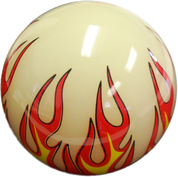 Shift Knob With Adapter - White Old Skool Flames