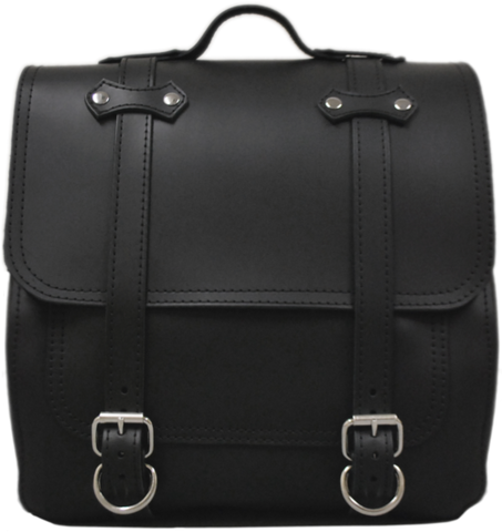 All HD Softails claSICK Leather Postal Bag - Plain Black Leather ...
