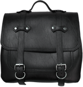 All HD Softails claSICK Leather Postal Bag - Faux Black Leather
