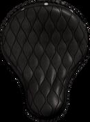 "16"" Cross Bones Solo Seat Black Hourglass Tuk N Roll with Rivets"