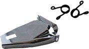 """1984-1999 Harley-Davidson Softail Solo Seat Deluxe Conversion kit - 2"""" Blacked Out Scissor Springs Chrome Cover%Bracket"""