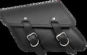 All H-D XL Left Side Black Leather Bolt-On Saddle Bag