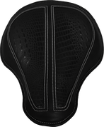 "Chopper Bobber 17"" Classic Solo Seat - Black with Black Alligator Inlay"
