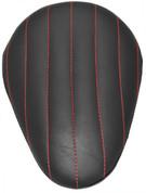 "Chopper Bobber 13"" Eliminator Solo Seat Black Tuk N Roll - Red Thread"