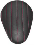 "Chopper Bobber 13"" Eliminator Solo Seat Black Tuk N Roll - Pink Thread"