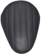 "Chopper Bobber 13"" Eliminator Solo Seat Black Tuk N Roll - Blue Thread"