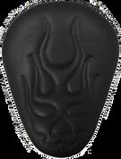 "CHOPPER BOBBER 13"" ELIMINATOR SOLO SEAT BLACK FLAME SKULL"
