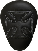 "La Rosa Harley-Davidson Sportster/Softail/Dyna/Touring Bikes Chopper Bobber 13"" Eliminator Solo Seat Black Cross with White Stitches"