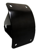 Black Powder Coated Curved Side Mount License Plate Holder for Harley Davidson Chopper Bobber Custom Motorcycles