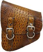 La Rosa Harley-Davidson All H-D Softail Models Left Side Saddle Bag   Swingarm Bag Cognac Alligator