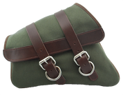 04-UP Harley Davidson Sportster Nightster 1200 Forty-Eight 72 XL  Canvas Left Side Saddle Bag Swingarm Bag - Army Green