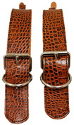 La Rosa Brown Alligator Leather Belts for Blanket/Jacket