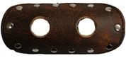 "La Rosa Design Universal Muffler Heat Shield - 6"" Rustic Brown with Circle Cuts"