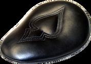"Chopper Bobber 13"" baSICK Solo Seats Black Ace Spade"