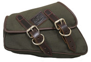 La Rosa Design 2004-UP Sportster Eliminator Canvas Left Side Saddle Bag - Army Green