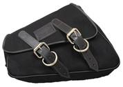 La Rosa Design 2004-UP Sportster Eliminator Canvas Left Side Saddle Bag - Black