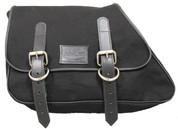82-03 Harley-Davidson XL Sportster Left Side Eliminator Canvas Solo Saddle Bag -Black Canvas
