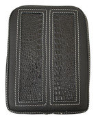Universal Rear Passenger Pillion Pad - Black Alligator Inlay