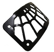 Black Powder Coated Curved Side Mount License Plate Holder for Harley Davidson Chopper Bobber Custom Motorcycles-Web Spider Style