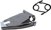 "1984-1999 Harley-Davidson Softail Solo Seat Deluxe Conversion kit - 3"" Black Scissor Springs Chrome Cover&Bracket"