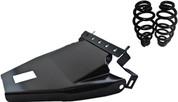 "1984-1999Harley-Davidson Softail Solo Seat Deluxe Conversion kit - 5""Black Barrel Springs Black Cover&Bracket"