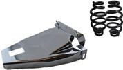 "1984-1999Harley-Davidson Softail Solo Seat Deluxe Conversion kit - 4"" Black Barrel Springs Chrome Cover&Bracket"