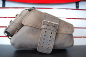 04-UP Harley-Davidson Sportster  Nightster 1200   Forty-Eight 72    Roadster Right Side Solo Saddle Bag Swingarm Bag Rustic Brown Single Wide Strap and Spare Fuel Bottle