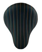 "CHOPPER BOBBER 16"" ELIMINATOR SOLO SEAT BLACK TUK N ROLL ORANGE THREAD"