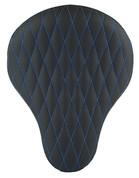 "Chopper Bobber 16"" Eliminator Solo Seat Black Diamond Tuk Blue Thread"