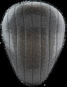 "La Rosa Harley-Davidson  /Sportster/Softail/Dyna/Touring Bikes  Chopper Bobber 13"" Solo Seat Black Metal Flake Tuk N  Roll"