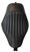 La Rosa Design La Linia Solo Full Size Seat for 2004-2006 and 2010&UP Harley Sportsters - Black Tuk N Roll (Fits all tanks)
