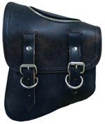 La Rosa Harley-Davidson All Softail Models Left Side Solo Saddle Bag   Swingarm Bag  Rustic Black with Zipper
