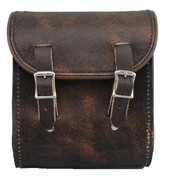 La Rosa Universal Leather Sissy Bar Bag - Rustic Brown