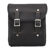La Rosa Universal Leather Sissy Bar Bag - Rustic Black