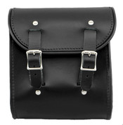 La Rosa Universal Leather Sissy Bar Bag -  Black