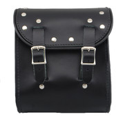 La Rosa Universal Leather Sissy Bar Bag -  Black with Rivets