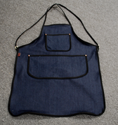 Bike Builder/Mechanic/Barber/Barista  Apron-Dark Blue Denim