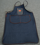 Bike Builder/Mechanic/Barber/Barista  Apron Blue Denim with Leather Pouch