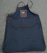 Bike Builder/Mechanic/Barber/Barista  Apron Blue Denim with Leather Pouch