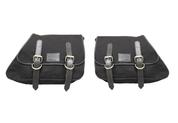 82-03 Harley-Davidson XL Sportster Left &Right Eliminator Canvas Saddle Bag -Black Canvas