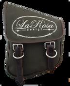 La Rosa Harley-Davidson  All HD Softail Eliminator Canvas Softail Left Side Saddle Bag   Swingarm Bag -Green Canvas La Rosa Logo