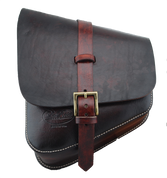 La Rosa Harley-Davidson All Softail Models Left Side Solo Saddle Bag  Swingarm Bag - Hand Dyed Antique Leather-Burgundy