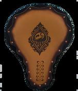 "16"" Hard Ass Solo Seat - Antique Tan Lucky Skull"