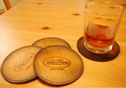 La Rosa Leather Coaster Set - 4PCS Antique Tan Round