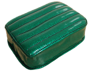 Universal Rear Passenger Pillion Pad - Green Metal Flake Tuk n Roll