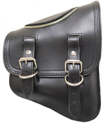 La Rosa Harley-Davidson All H-D Softail Models Right Side Saddle Bag   Swingarm Bag Black Leather with Zipper