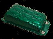 Bolt-On Rear Passenger Pillion Pad - Green Metallic Diamond Tuk