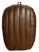 La Rosa Design 2004 and UP Harley Sportster Passenger Seat - Rustic Brown Leather Tuk n Roll